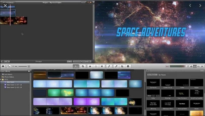 imovie windows - Écran présentant différents effet de vidéo magique pour iMovie pc