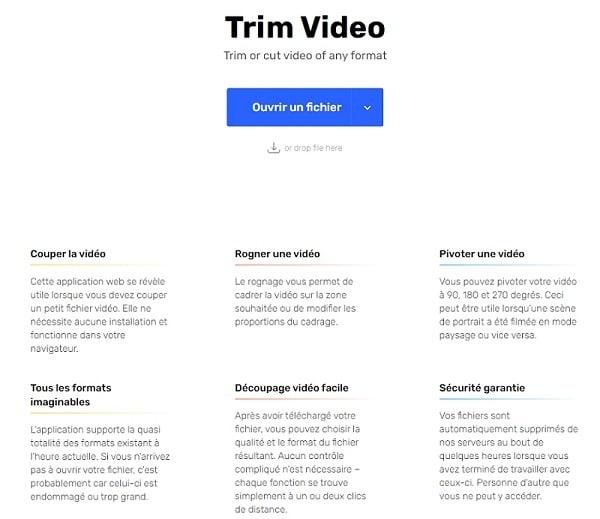couper vidéo en ligne