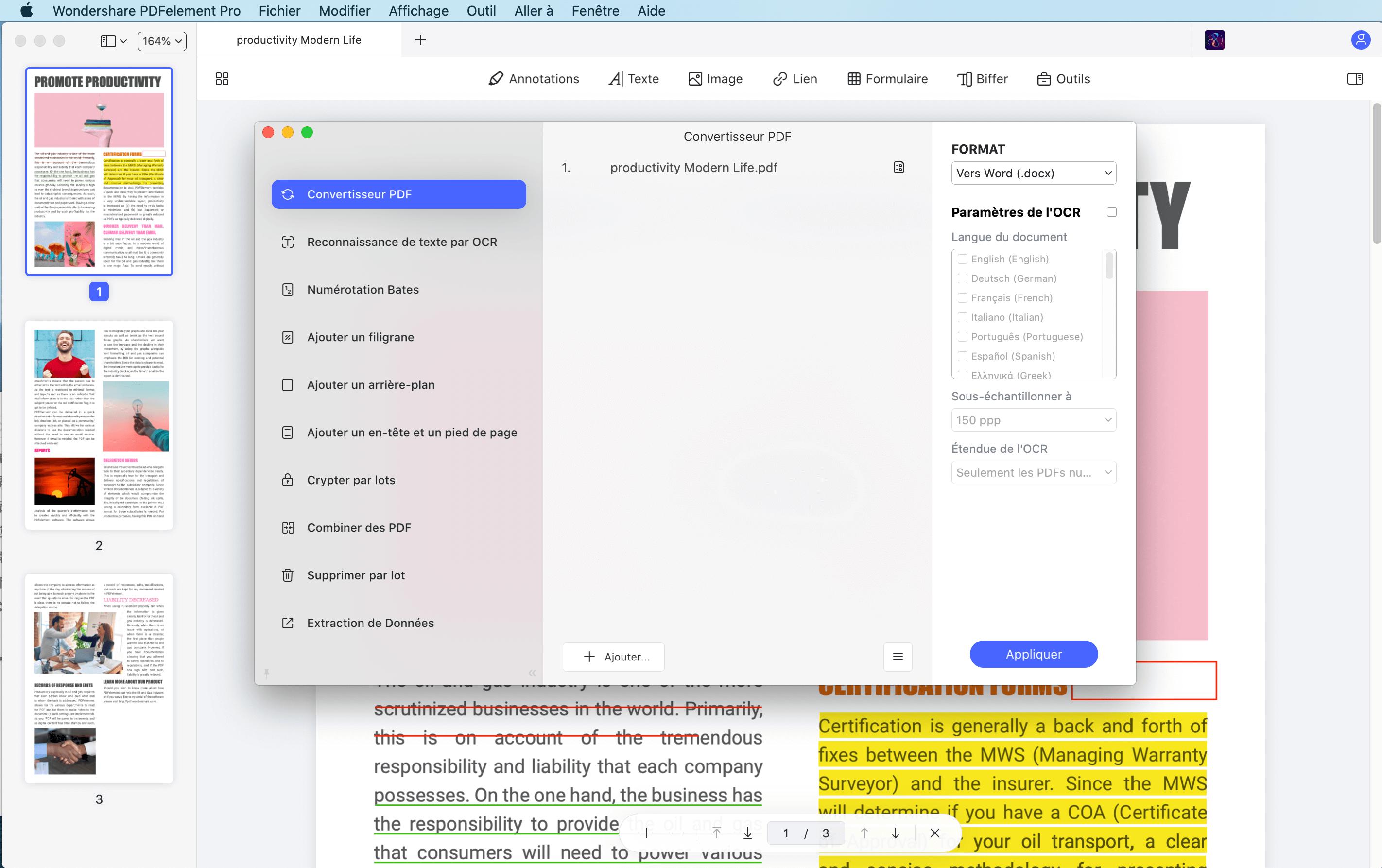 convertir pdf mac