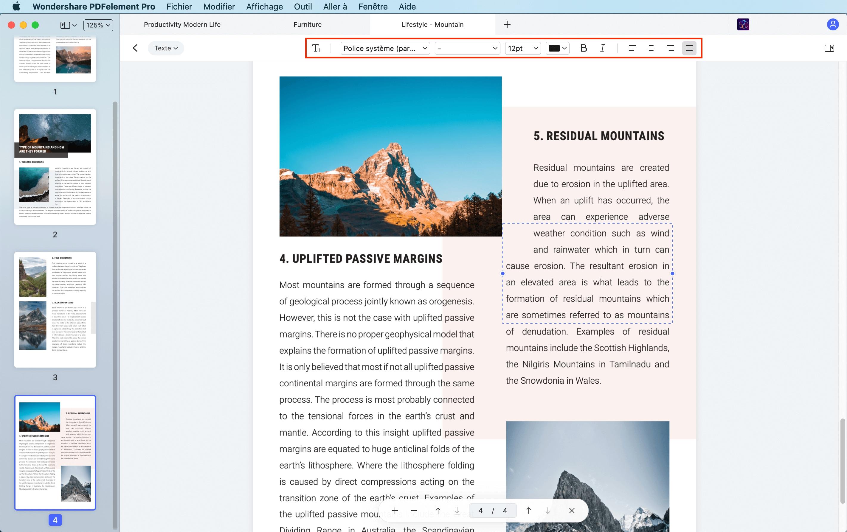 éditer le texte sur pdf