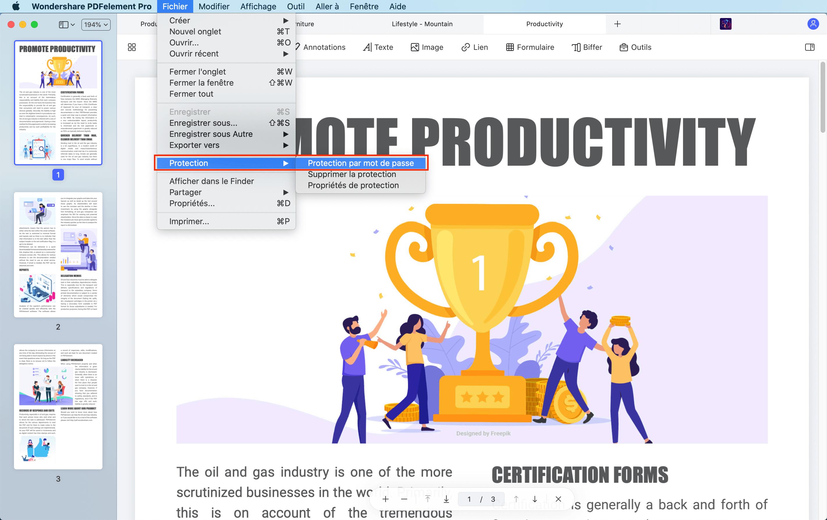 comment protéger un pdf par mot de passe sur mac