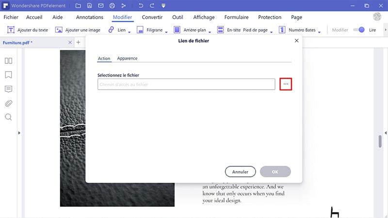 créer un hyperlien vers pdf