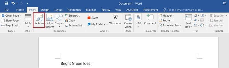 insérer pdf dans doc word