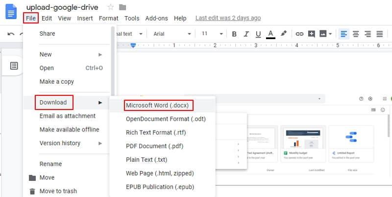 insérer pdf dans word 2016