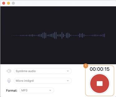 arrêter l'enregistrement audio