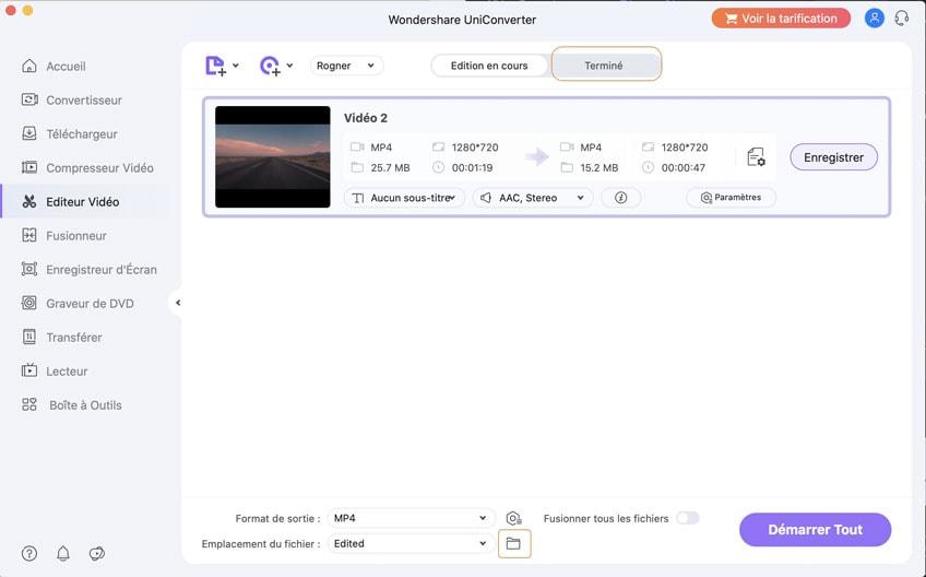 enregistrer des vidéos découpées sur Mac