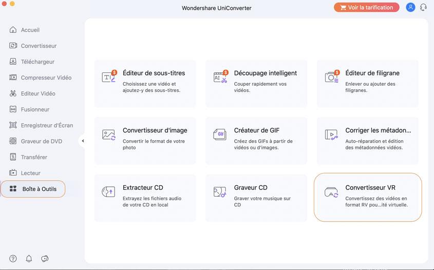 lancer Wondershare VR Converter sur Mac