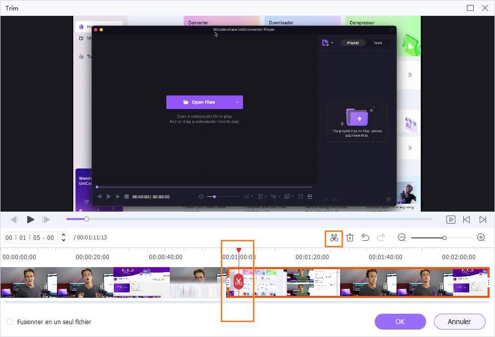 rogner la partie début/fin de la vidéo - comment éditer la vidéo